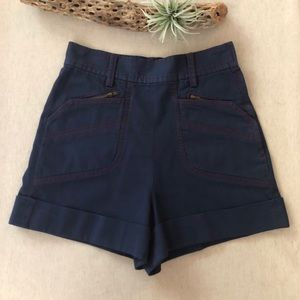 French Connection High Waist Shorts sz 6